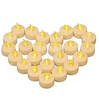 LARGO DA USARE: Yooyee candele a LED senza fiamma tremolano di giallo caldo e presentano l'effetto della candela reale. Sono perfetti per decorare San Valentino, Halloween, Natale, Matrimonio, Compleanno, Festa, Capodanno e altre occasioni speciali. ...