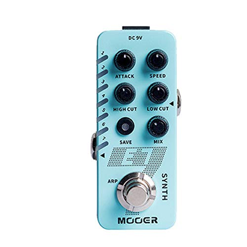 Leoie MOOER E7 SYNTH Electric Guitar Synthesizer Effect Pedal Tones Individual Arpeggiator blue