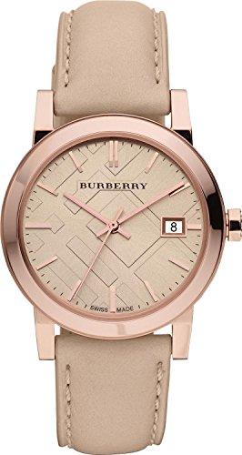 BURBERRY BU9014 - Reloj para Hombres, Correa de Cuero Color Gris