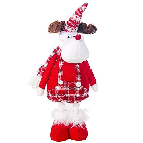 Brownrolly Kerstmis hangpop Kerstman muziekpop langbenige pop stof ruiten muziek figuur voor Kerstmis wachtrij Nieuwjaar decoratie pop Everywhere