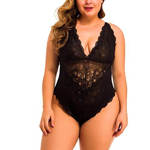 Erotic Dessous, Damen Sexy Jumpsuit Nightgown Unterhose, Frauen Erotic Spitze Bodysuit Nachthemd Nachtwäsche Babydoll Lingerie Unterwäsche Nachtkleid Nightgown Sleepwear Spitze BH