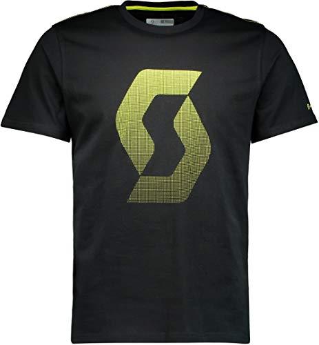 Scott T-shirt Factory Team CO Icon donkergrijs gemêleerd/sulphur geel