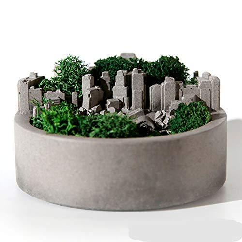 Creative Round Planter Silicone Cement Gypsum Mold DIY Concrete Succulent Plant Flower Pot Mold Micro Landscape Home Garden Decor