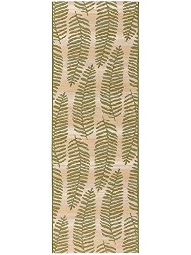 benuta PLUS In- & Outdoor-Teppich Artis Grün 80x250 cm - Outdoor-Teppich für Balkon & Garten