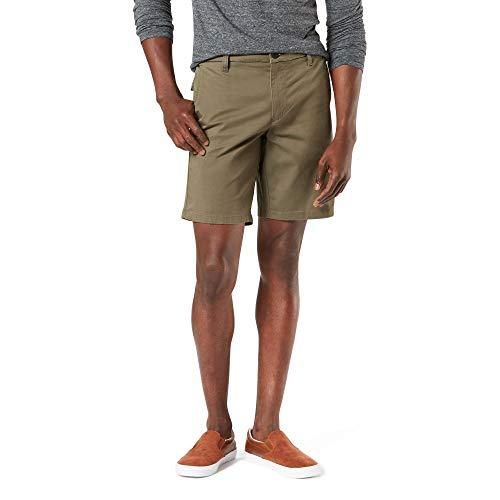 Dockers Men's Straight Fit Supreme Flex Ultimate Short, Earth Moss, 34W