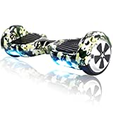 Hoverboard Bluetooth - Enfant Super Cadeau, 6.5' Overboard Tout Terrain Adulte Balance Board, Pas Cher LED Skateboard, Challenger Gyropode (Camo Green)