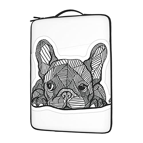 MBNGGAB French Bulldog Puppy Laptop Sleeve Case, Laptops Sleeve Water Resistant Portable Computer Carrying Case Notebook Computer Tablet Bags for Men Women 13/14/15.6 inch