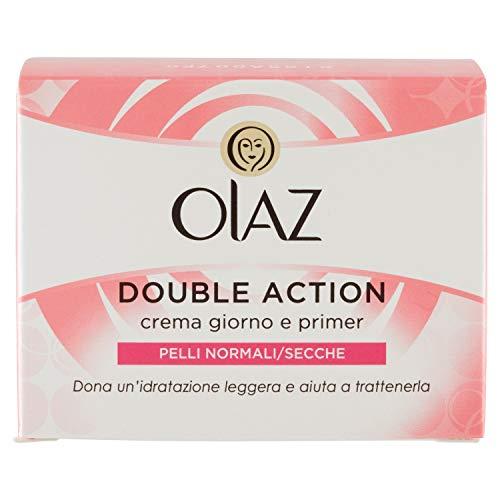 Olaz Double Action Crema Viso Giorno E Primer Per Pelle Normale E Secca 50 Ml