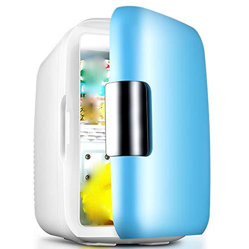 Zhao Li Mini-Kühlschrank Auto-Kühlschrank-Mini Kleiner Kühlschrank Kleine Haushalts Einzelne Tür Kühlung Studentenwohnheim Auto Auto Dual-Use -\@ (Color : Blue)
