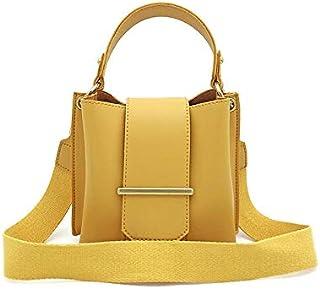 حقائب نسائية Dengyujiaansdjb حقائب يد للنساء، السيدات الصغيرة جلد دلو حقيبة كتف أنيقة حقيبة رسول للفتيات