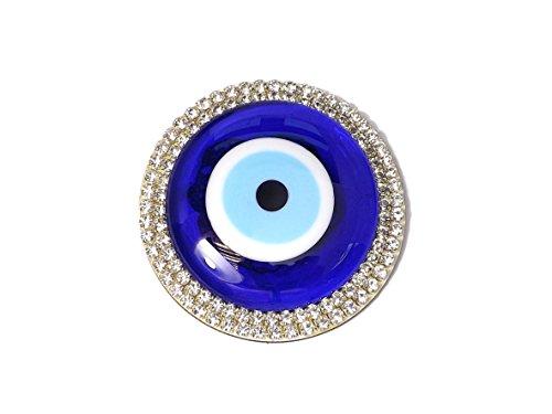 YSN Home Collection Wanddeko Wandschmuck Deko Aufkleber - Glass Rund - Türkisches Auge Nazar Boncuk - Glücksbringer