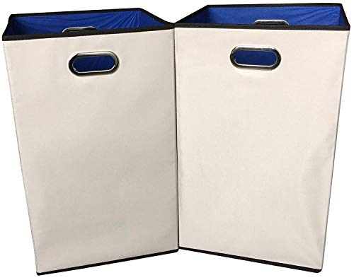 Sodynee 2-Pack 23' Closet Folding Laundry Clothes Hamper Sorter Basket...