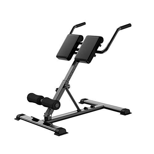 DnKelar Bauch- und Rückentrainer, Hyperextension Rückentrainer bis 150kg belastbar, klappbar Dip Bar für zuhause, höhenverstellbar und faltbar Bauchtrainer mit epolsterter Beinfixierung