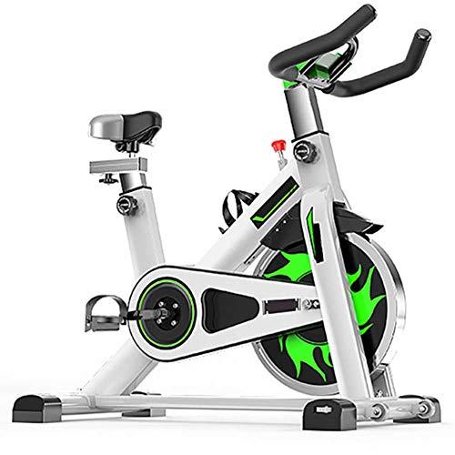 Bicicleta de ciclismo interior magnética, Bicicleta estática para interiores con transmisión por correa, Pantalla LCD de bicicleta estacionaria para entrenamiento cardiovascular en casa,Blanco