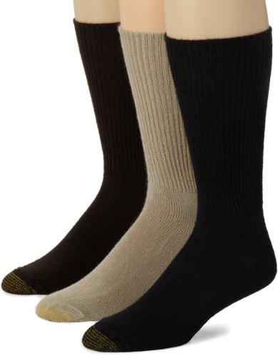 Gold Toe Herren Fluffies Crew Socken Multipair - - Einheitsgröße/Groß/Hoch