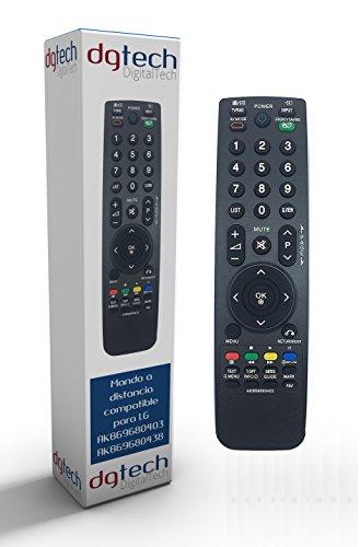 DigitalTech® - Mando de sustitución para televisores LG AKB69680403 AKB69680438