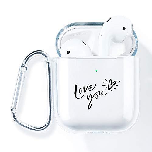 AKABEILA Airpods Case Cover, Compatibel met Apple Airpods 2nd Hoesje Siliconen Helder met Design met AirPods 1st [Front…