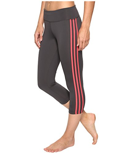 adidas Designed-2-Move - Mallas de entrenamiento, tres cuartos - S1753WTR622, Dark Grey/Core Pink- 3 Stripe