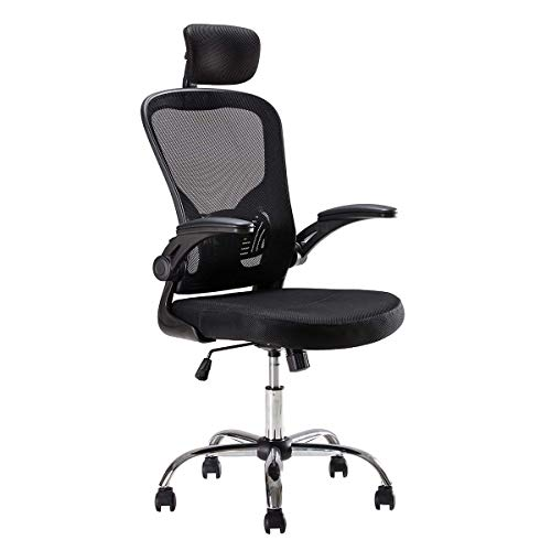 Sunon Office Chairs Computer Chair High Back Support Mesh Swivel Chair Adjustable Height,Armrest and Headrest Chair,Black