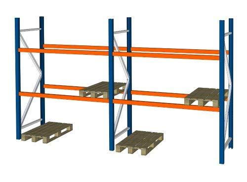 SLP B 5,7 m H 2,74 m Palettenregal Hochregal Schwerlastregal Regal Lager 3000 kg