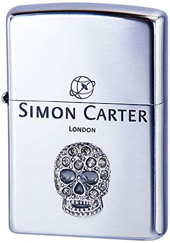 ZIPPO(ジッポー) ライター シルバー サイモンカーター スカルメタル スワロフスキー 装飾 SCP-042 高さ5.5cm×幅3.8cm×奥行き1.3cm