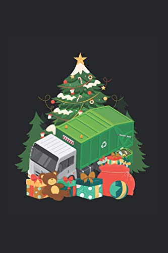 Notizbuch: Müllwagen Weihnachtsbaum Weihnachten Trucker Notizbuch DIN A5 120 Seiten für Notizen Zeichnungen Formeln | Organizer Schreibheft Planer Tagebuch