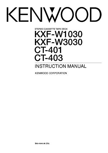 Kenwood CT-401 Cassette Player Owners Instruction Manual Reprint [Plastic...
