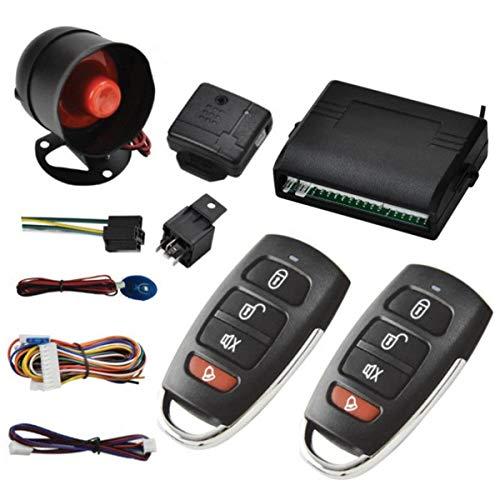 Alarme antivol de voiture à distance Riloer, système de protection contre le vol de véhicule, serrure centrale sans clé + capteur de choc + 2 télécommandes universelles