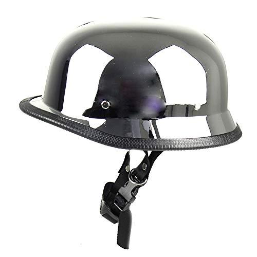 Mangen Stahlhelm Halbhelme Helm Motorradhalbhelm Jethelm Kreuzer (Chrom)