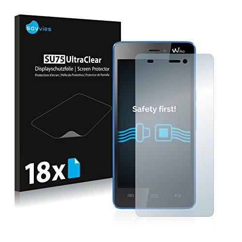 Savvies 18x Schutzfolie kompatibel mit Wiko Highway Signs Bildschirmschutz-Folie Ultra-transparent