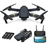 Quadcopter Drone with Camera Live Video, E58 WiFi FPV Quadcopter with 120° FOV 720P HD Camera Foldable Drone RTF -25 mins Flight time, Altitude Hold, One Key Take Off/Landing, 3Pcs Batteries