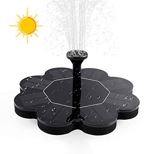 ZOTO Solar Springbrunnen, Chrysanthemen Form Solar Teichpumpe Outdoor Wasserpumpe, Solar Schwimmender Fontäne Pumpe für Garten, Vogel-Bad,Teich,Fisch-Behälter