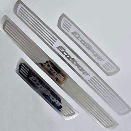 JABAVE 4 Piezas Decoración para estribos de Coche para Ford Ecosport 2013-2020,Acero Inoxidable Tiras Umbral Protector Cubierta Bienvenida Pedal Automóviles Desgaste Accesorios de Coche