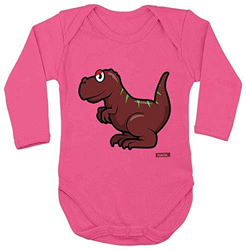 Hariz Tyrannosaurus T-Rex - Body de manga larga para bebé, diseño de dinosaurios, color marrón...