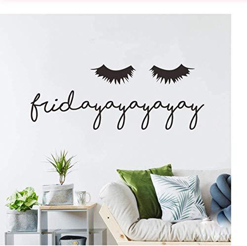 Pegamento de pestañas pegatinas de pared para sala de estar, dormitorio, decoración del hogar, calcomanía de texto, pegatinas para papel pintado de belleza, maquillaje póster 57 x 25