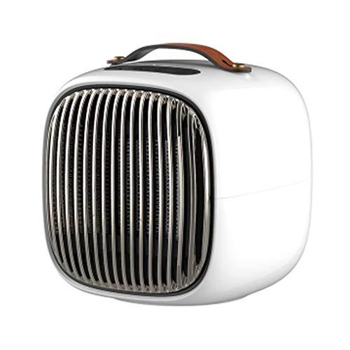Économie d'énergie sur les appareils de chauffage portatifs de bureau de chauffage d'appareil de chauffage domestique de mini ventilateur intelligent (Color : White)