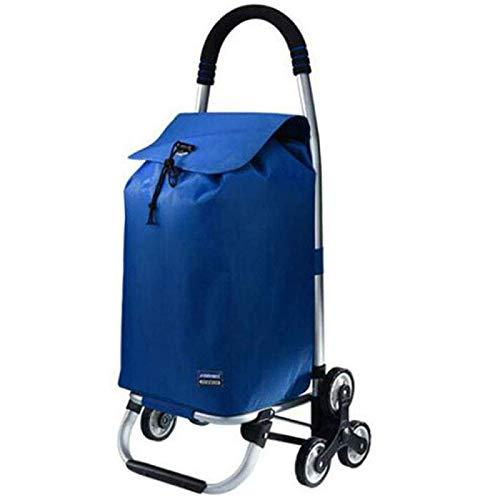Carro de la Compra Aluminio Ligero Aleación fácil de Plegar 2 en 1 Fácil de Transportar Carro de la Compra 35L Gran Capacidad para Que los Ancianos y los niños compren Alimentos, A