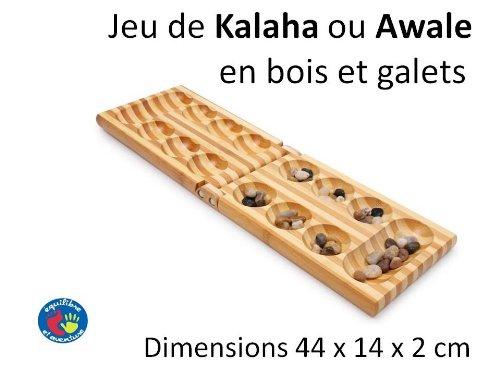 Equilibre et Aventure Jeu d'Awale ou de Kalaha en Bois Pliant
