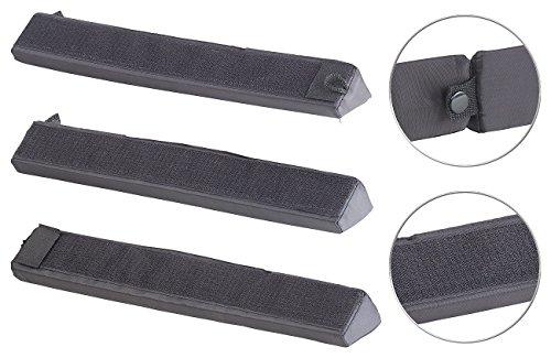 PEARL Kofferraum Sicherung: Kofferraum-Gepäckfixierung aus Schaumstoff/Nylon, mit Klett, 3-teilig (Kofferraum Klett Winkel)