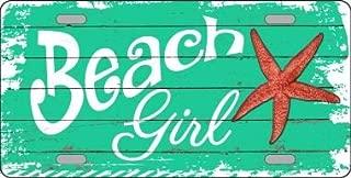 Smart Blonde Beach Girl Novelty Metal License Plate LP-8394