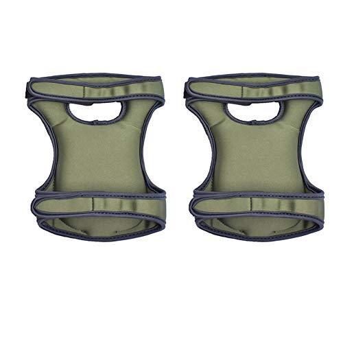 Moligin - Rodilleras de neopreno ultra cómodas resistentes al agua para jardinería (verde oscuro)