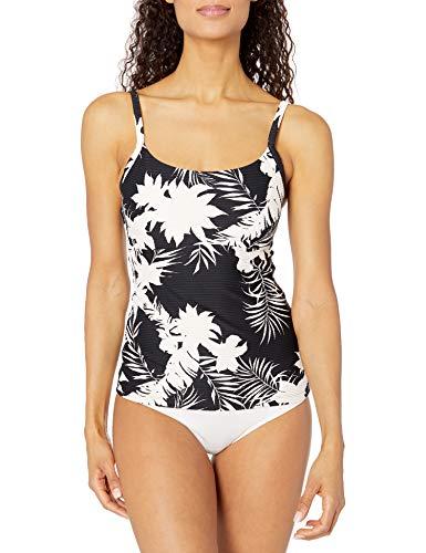Seafolly Damen DD Square Neck Tankini Top Swimsuit Tankinioberteil, Wild Tropics Schwarz, 38