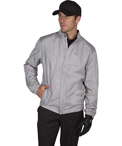Lowest Price! Three Sixty Six Full Zip Golf Jacket for Men - Lightweight Mens Rain Coat - Water Resi...