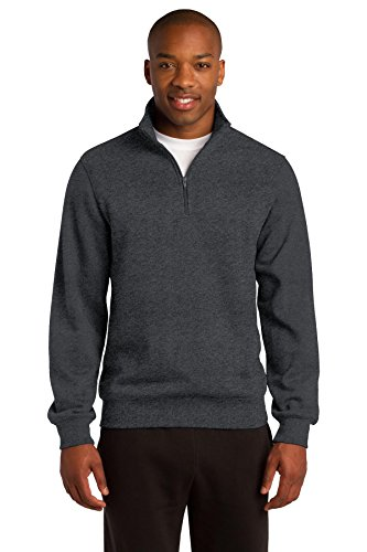 SPORT-TEK Men's 1/4 Zip Sweatshirt M Graphite Heather