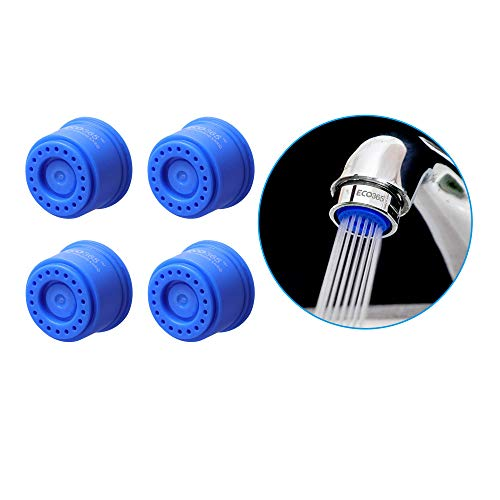 ECO365 Water Saving ABS Kitchen Sink Tap Aerator Filter- 3 LPM- Pack of 4, Blue Color