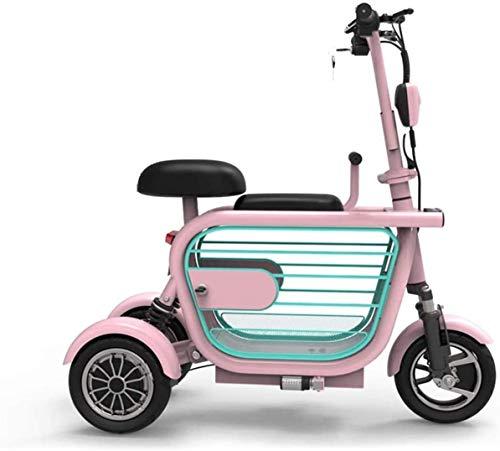 GQQ Rollstühle, Elektromobil-Motorroller 3-Rad-Elektroroller Zusammenklappbar, Elektrofahrrad-34 Km/H, Einfaches Falt- Und Trage-Design, Ultraleichtes, Komfortables Und Sicheres Reisen Für Erwachse