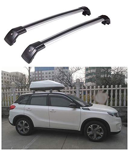 DSSQABR-11 Portaequipajes para Coches Aleación de Aluminio Techo Bastidores portaequipaje Barra Transversal en Forma for el Suzuki Vitara 2016 2017 2018