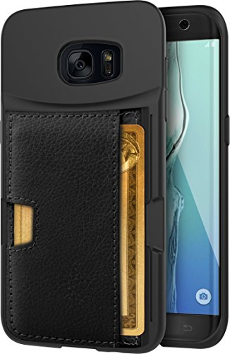 "Silk Galaxy S7 Edge Wallet Case - Q CARD CASE [Samsung Slim Protective Kickstand CM4 Grip Cover] - ""Wallet Slayer Vol.2"" - Black Onyx"