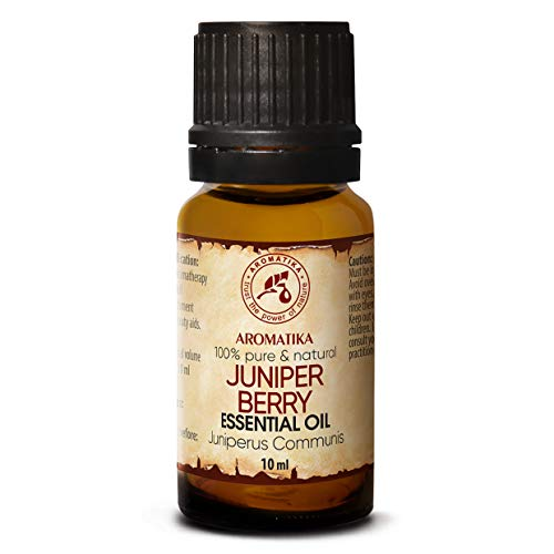 Aceite Esencial Juniper 10ml - 100% Puro & Natural - Macedonia - Juniperus Communis - para Aromaterapia - Para la Salud - Difusor de Aroma - Lámpara de Fragancia - SPA - Juniper Berry Oil