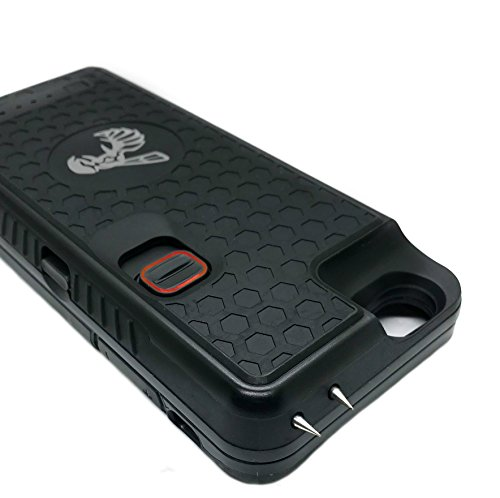 The Only High-Powered Stun Gun that Protects, Recharges Your iPhone 6,6s - Concealed Inside a Durable Weatherproof Case - Flexibility to Attach or...